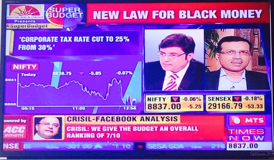 Enabling #Budget2015 with CRISIL for Facebook and Times Now